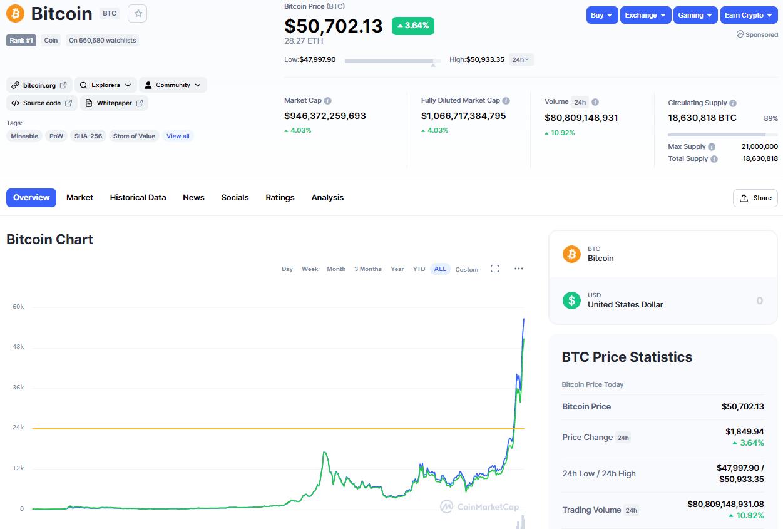 Bitcoin 50k KING